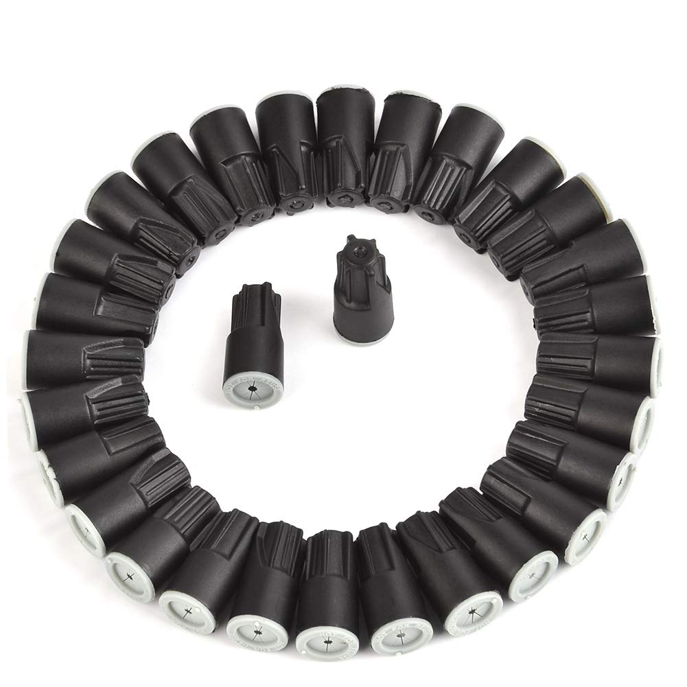 ATPWONZ 30pcs Waterproof Twist Connectors Grease Outdoor Seal Elect Wire Nuts Electrical Wire Connector Black/White by ATPWONZ