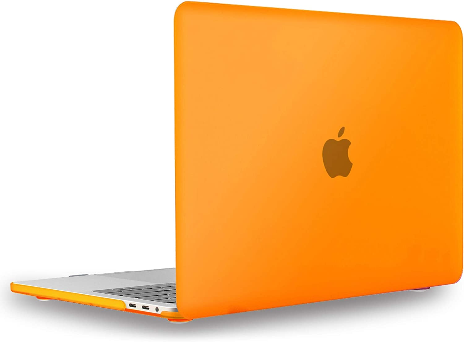 UESWILL MacBook Pro 13 inch Case 2019 2018 2017 2016, Smooth Matte Hard Case for MacBook Pro 13 inch, 2/4 Thunderbolt 3 Ports (USB-C), with/Without Touch Bar, Model A2159/A1989/A1706/A1708, Orange