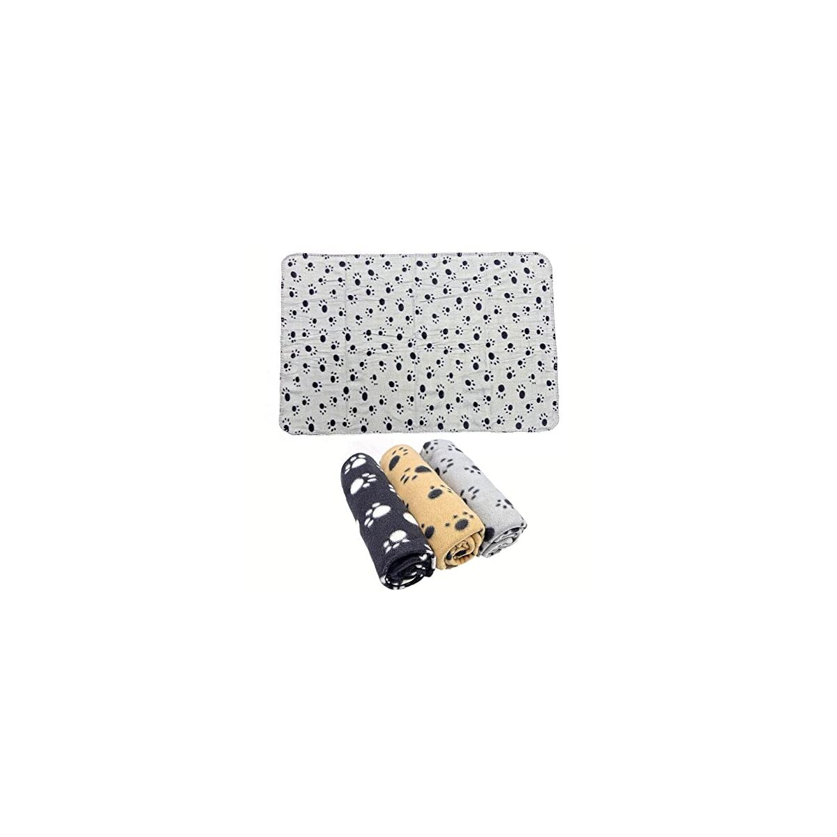 beige Morbida coperta per cane//gatto in caldo pile 3 pezzi