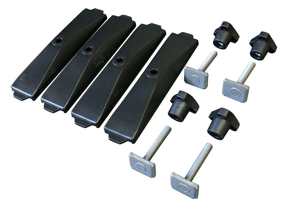 Thule T-Track Adapter 697-6 f/ür Dachbox mit Power-Click 20/mm 4 St/ück