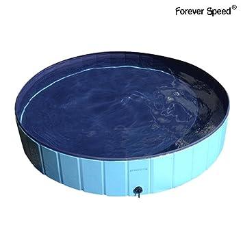 Forever Speed Piscina de Baño Ducha Plegable para Mascota Bañera Portátil para Perro/Gato Animales (160X30cm, Azul): Amazon.es: Juguetes y juegos