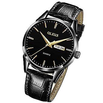 Amazon.com: OLEVS - Reloj de pulsera para hombre, de lujo ...