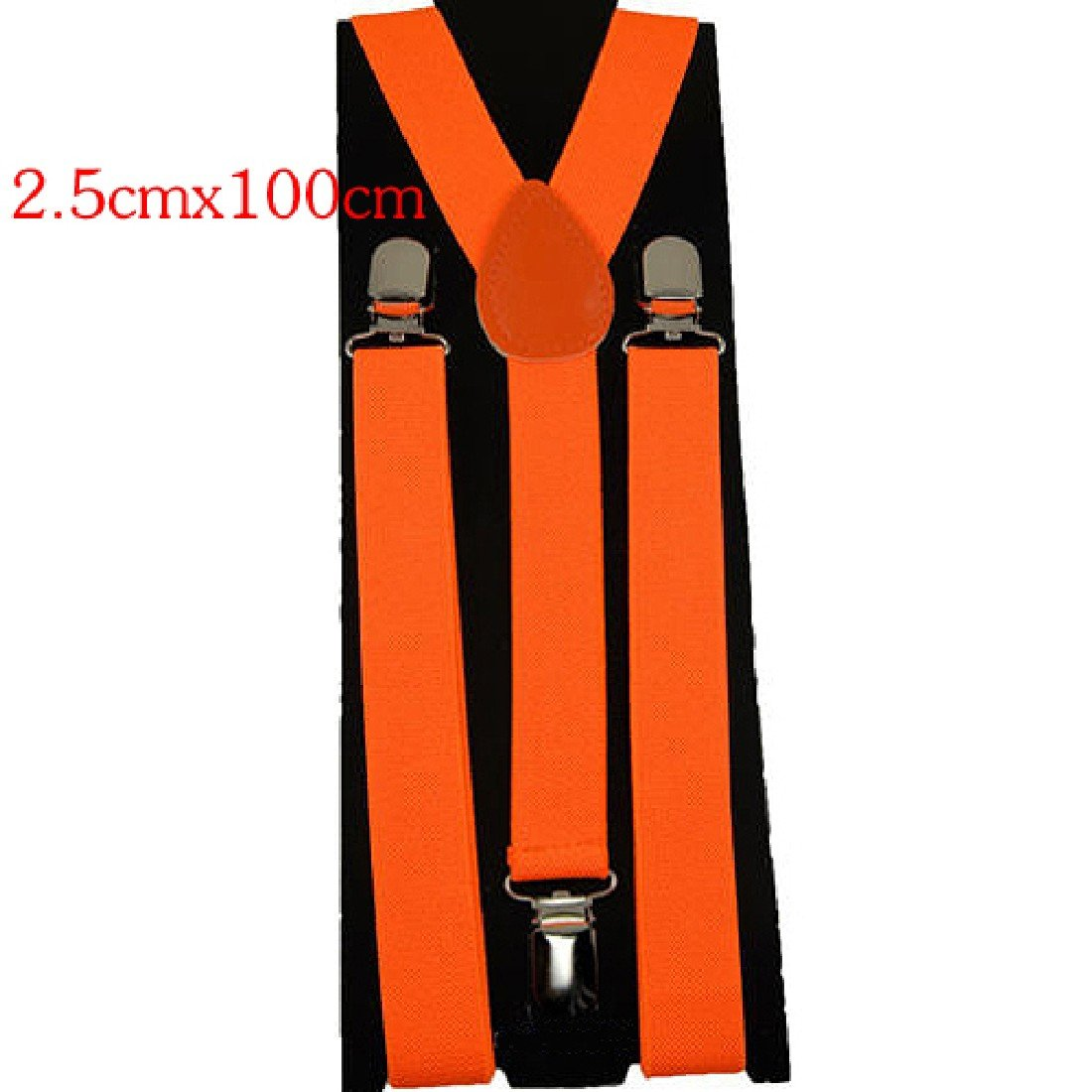 Joylive 2.5*100cm Men Womens Clip-on Suspenders Elastic Y-Shape Adjustable Braces Solids