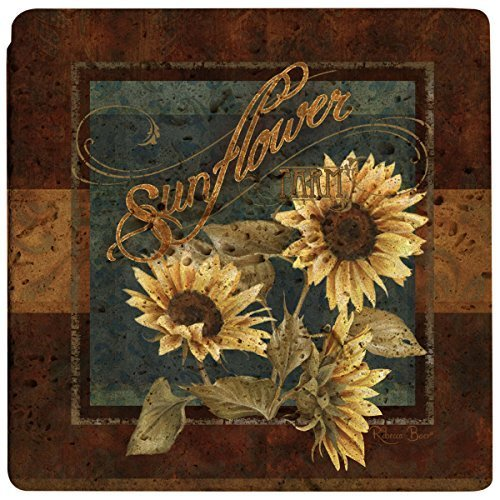 Thirstystone Sunflower Farm Stone Trivet, Travertine by Thirstystone