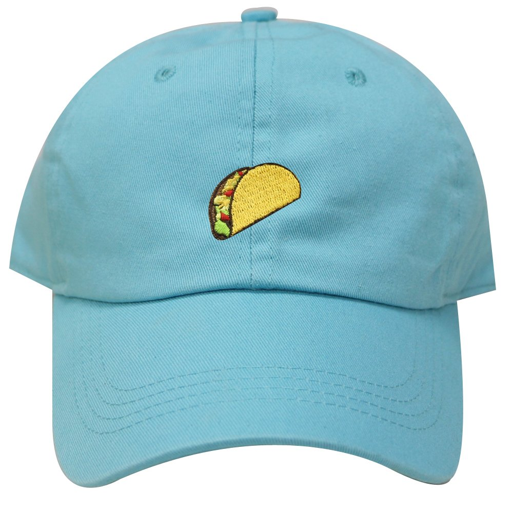 487767c33e99b City Hunter C104 Taco Emoji Cotton Baseball Cap Dad Hats 15 Colors (Aqua)  at Amazon Men s Clothing store