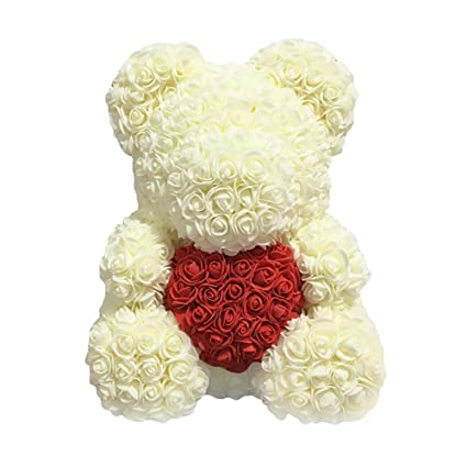 Festive & Party Supplies Home & Garden Pe Heart-shaped Love Rose Bear Artificial Rose Wedding Bear Dolls Romantic Valentines Day Toy