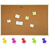 900 x 600 mm Cork Notice Board Pinboard Pin Large Thick Pine Frame – Made in EU - Perfect for Office, School, Bedroom & Home (900 x 600 mm)