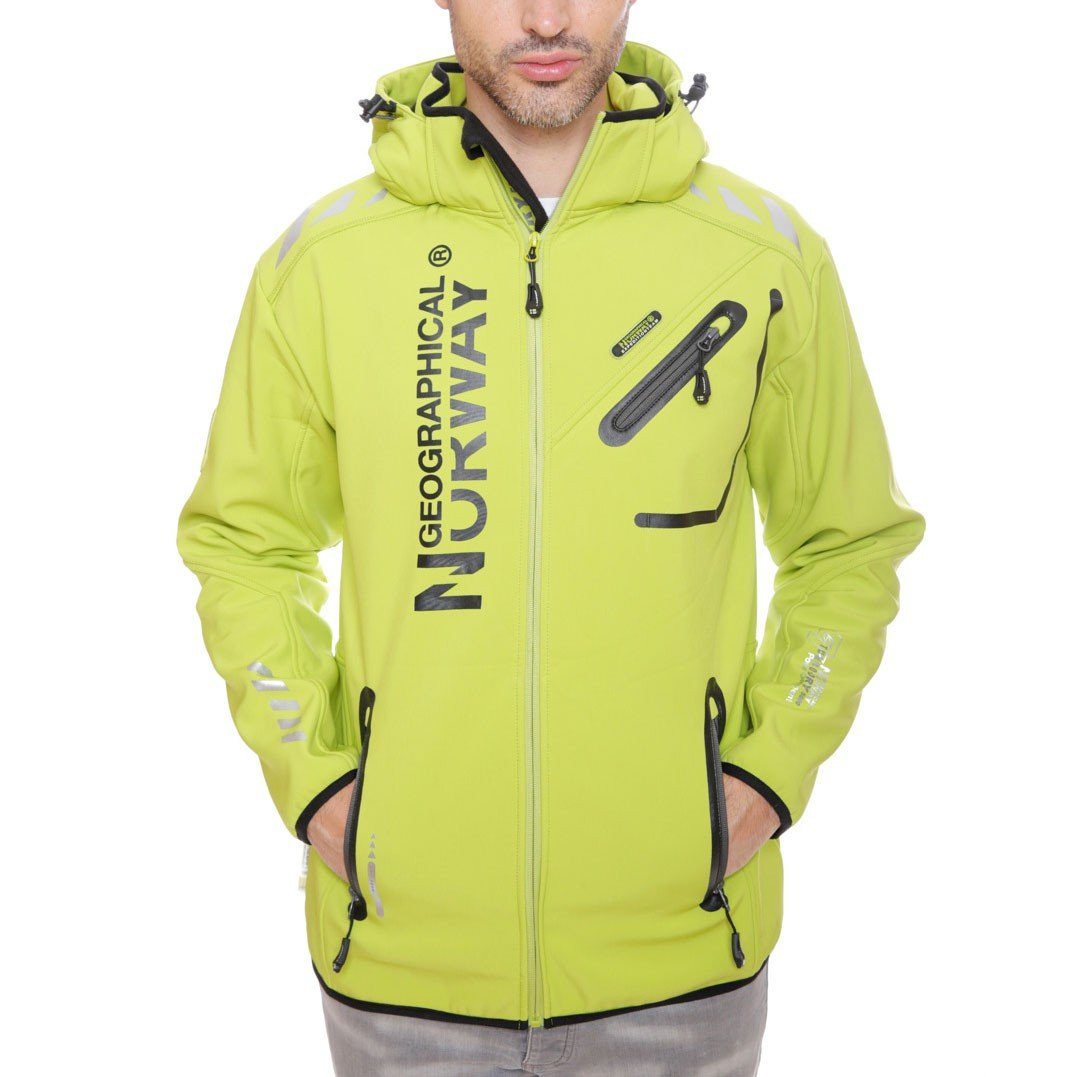 Geographical Norway Hombre Chaqueta Outdoor Softshell Rainman Turbo de Dry Capucha