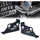 Xprite Black Steel Front Door Foot Pegs with U.S. Flag Style for 2007-2018 Jeep Wrangler JK JKU 2DR/ 4DR - 1 Pair
