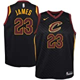 NIKE Lebron James Cleveland Cavaliers NBA Youth Black Alternate Dri-Fit Swingman Statement Edition Icon