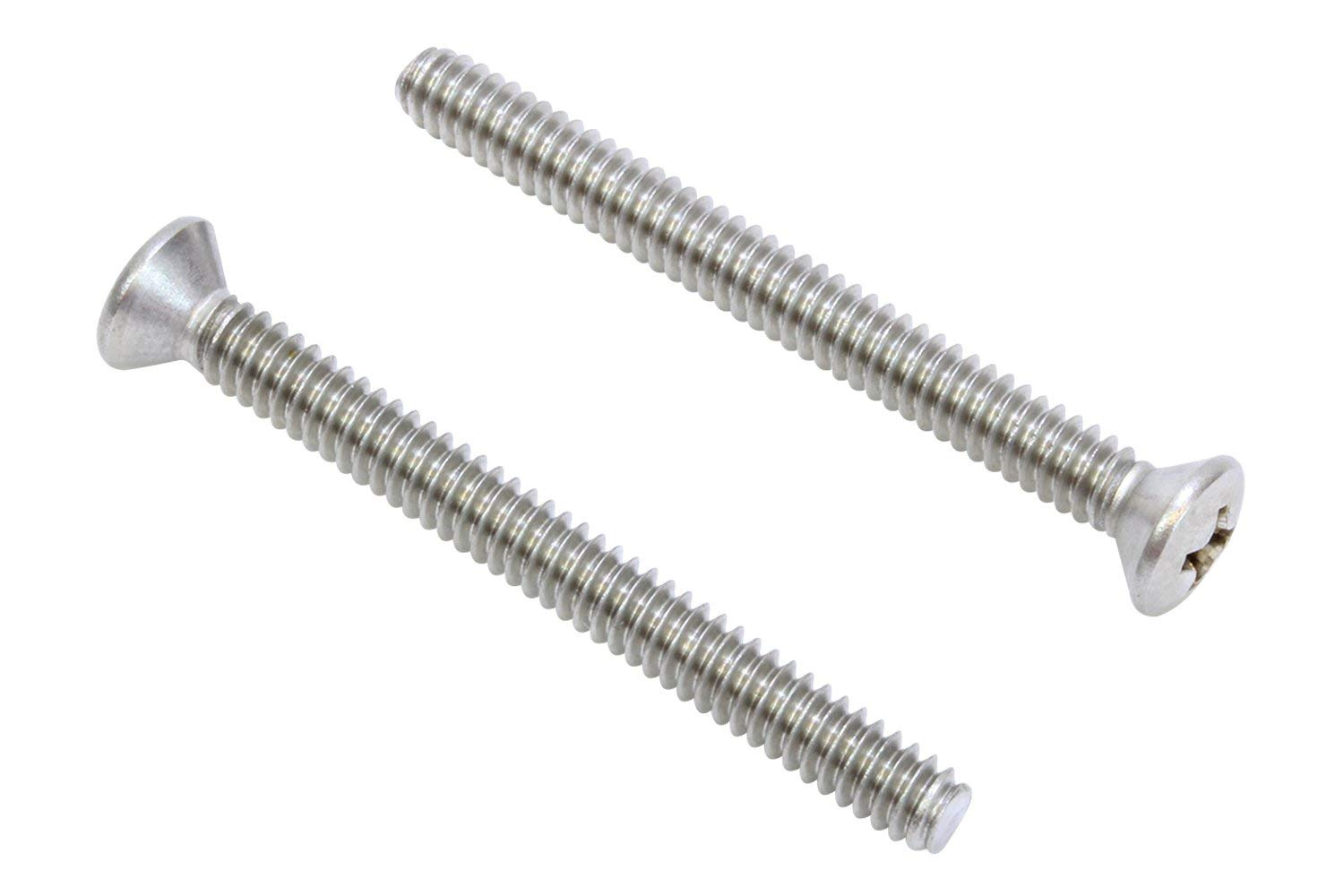 Meets ASME B18.6.3 Fully Threaded Phillips Drive 18-8 Stainless Steel Machine Screw #2-56 UNC Threads Pack of 100 Plain Finish 1//4 Length Oval Head