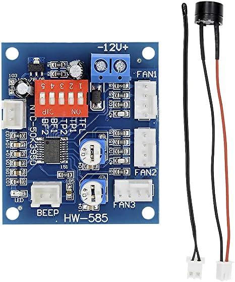Diymore DC12V 5A PWM 4 Cables PC Ventilador Temperatura ...