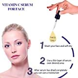 QQcute 30% Vitamin C Serum with Hyaluronic Acid for Face, Natural and Organic Skin Care for Anti Aging, Anti-Wrinkle, Intense Moisture, Topical Eye & Facial Treatment Serum