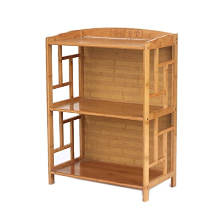 jxboos bookcasesolid wood bamboo bookshelf chinese antique bookshelves simple combination bookrack d 50x30x70cm - Antique Bookshelves