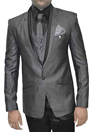 INMONARCH Hombres 7 Pc gris boda traje esmoquin TX5084XL34 44 or ...
