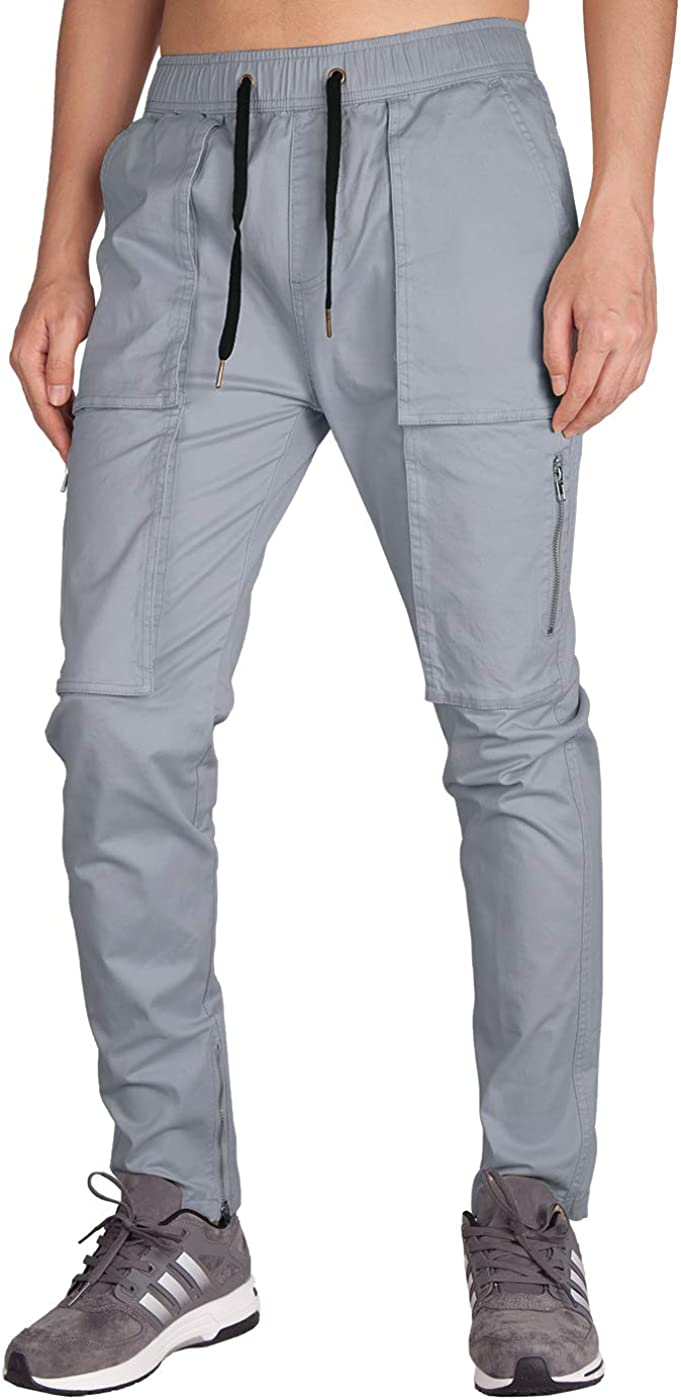 ITALY MORN Mens Casual Cargo Trousers Work Wear
