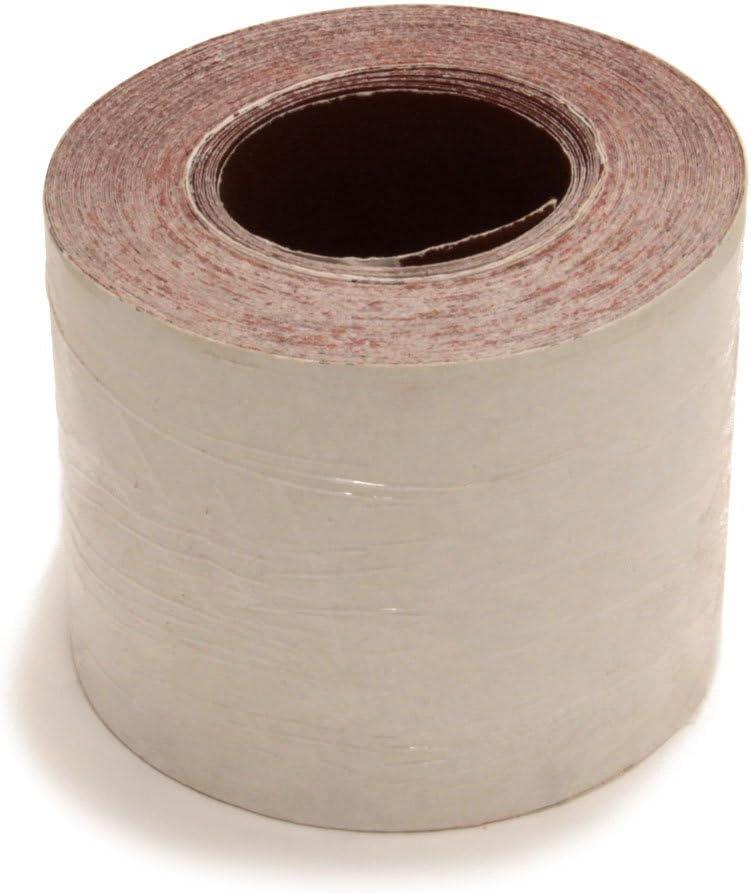 K/örnung P60 Schleifpapier Woltersberger/® Schleifrolle 93mm x 25m f/ür Einhandschleifer und manuellen Einsatz
