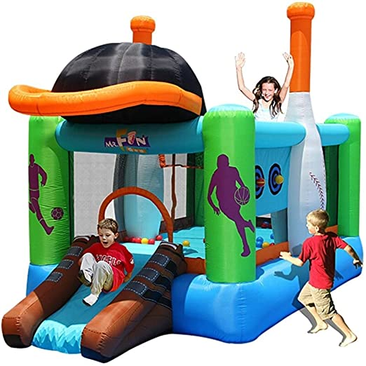 Niños inflable Castillo Hinchable castillo de salto largo ...