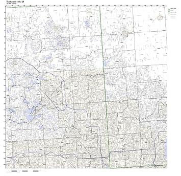 Amazon Com Rochester Hills Mi Zip Code Map Laminated Home Kitchen