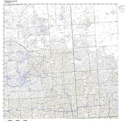 Amazon Com Rochester Hills Mi Zip Code Map Not Laminated Home