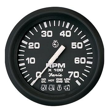 amazon com euro 7 000 rpm omc system check tach sport rh amazon com Instrument Cluster Wiring Harness Classic Car Wiring Harness