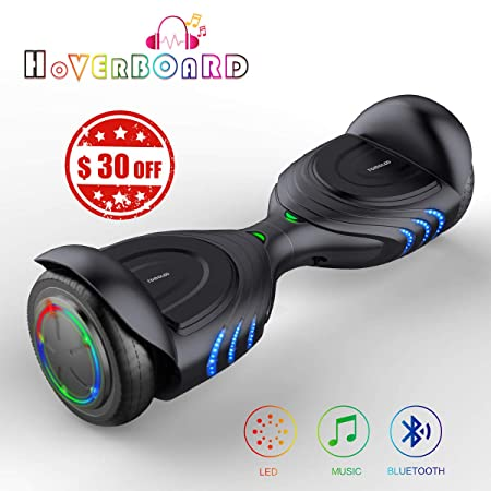 TOMOLOO Two Wheels Electric Scooter, Hoverboards with Bluetooth Speakers and Led Lights, Self Balancing Hover Board for Kids Adults- UL2272 Certified