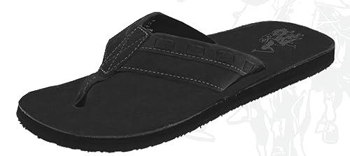 286a7576d674d4 U.S. Polo Assn. Men s Premium Sandals Leatherette Flip Flops Thongs Super  Cushioned Black