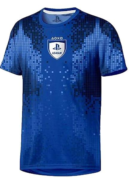 Sony Playstation-8-Bit Esports-Hombre Oficial Camiseta de Fútbol: Amazon.es: Ropa y accesorios
