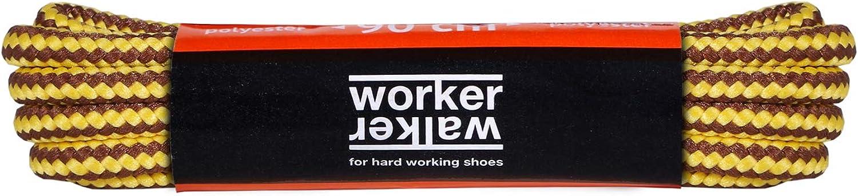 Tissage Robuste 1 Paire Fabriqu/és en Europe par des Professionnels Plusieurs Couleurs et Longeurs Disponibles Lacets Ronds pour Chaussures de Travail et de S/écurit/é WorkerWalker Laces Pro