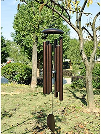 Amazon Com Agirlgle Large Wind Chimes Outdoor 44 Inch Tuned