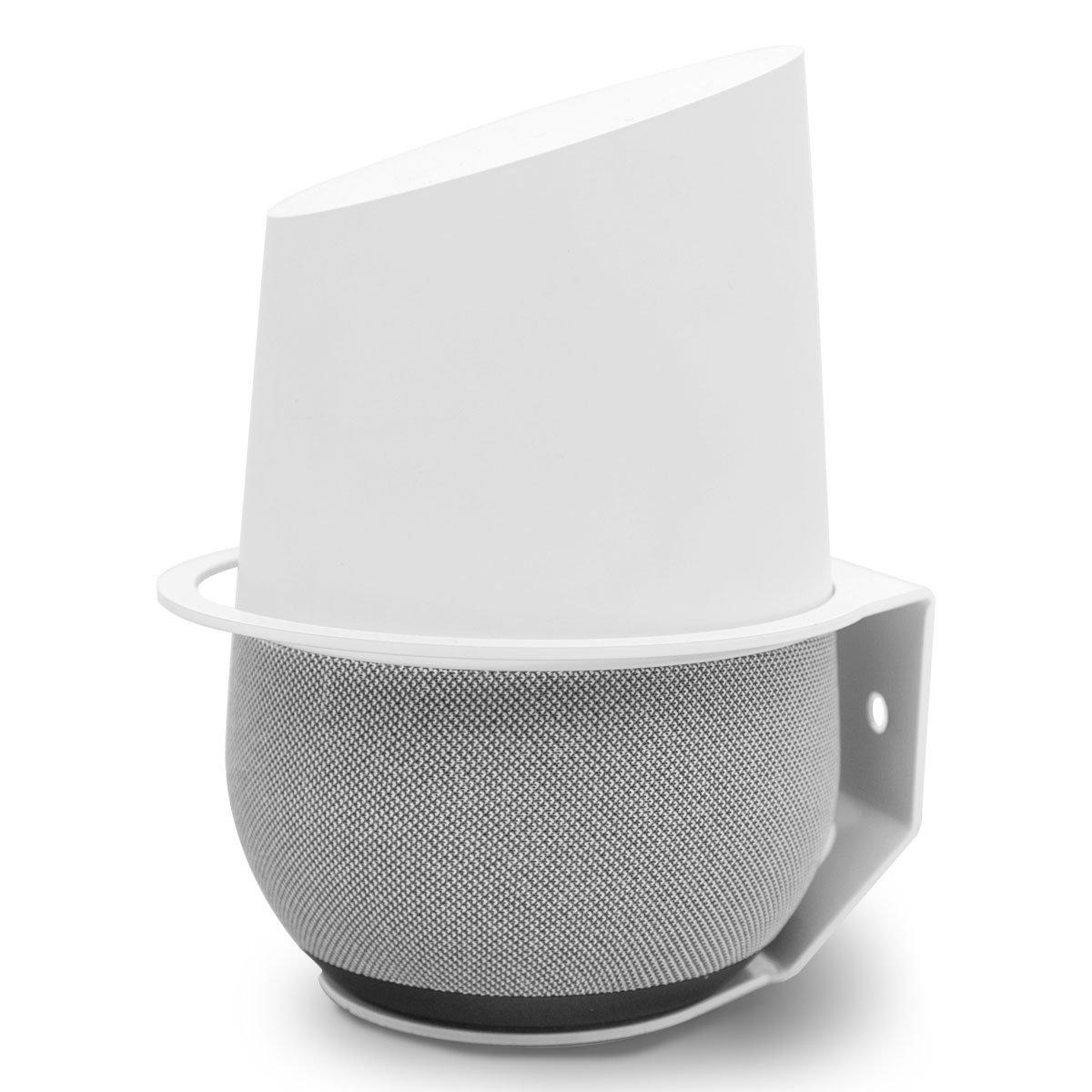 Google Home Wall Mount, Allicaver realizzato in metallo robusto supporto per Google Home.(bianco) LOLITECH LOLI-118
