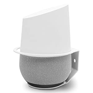 Google Home Wall Mount, ALLICAVER Sturdy Metal Made Mount Stand Holder for Google Home.(White)