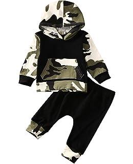 Amazon.com: 4 piezas de ropa de manga larga para bebés y ...