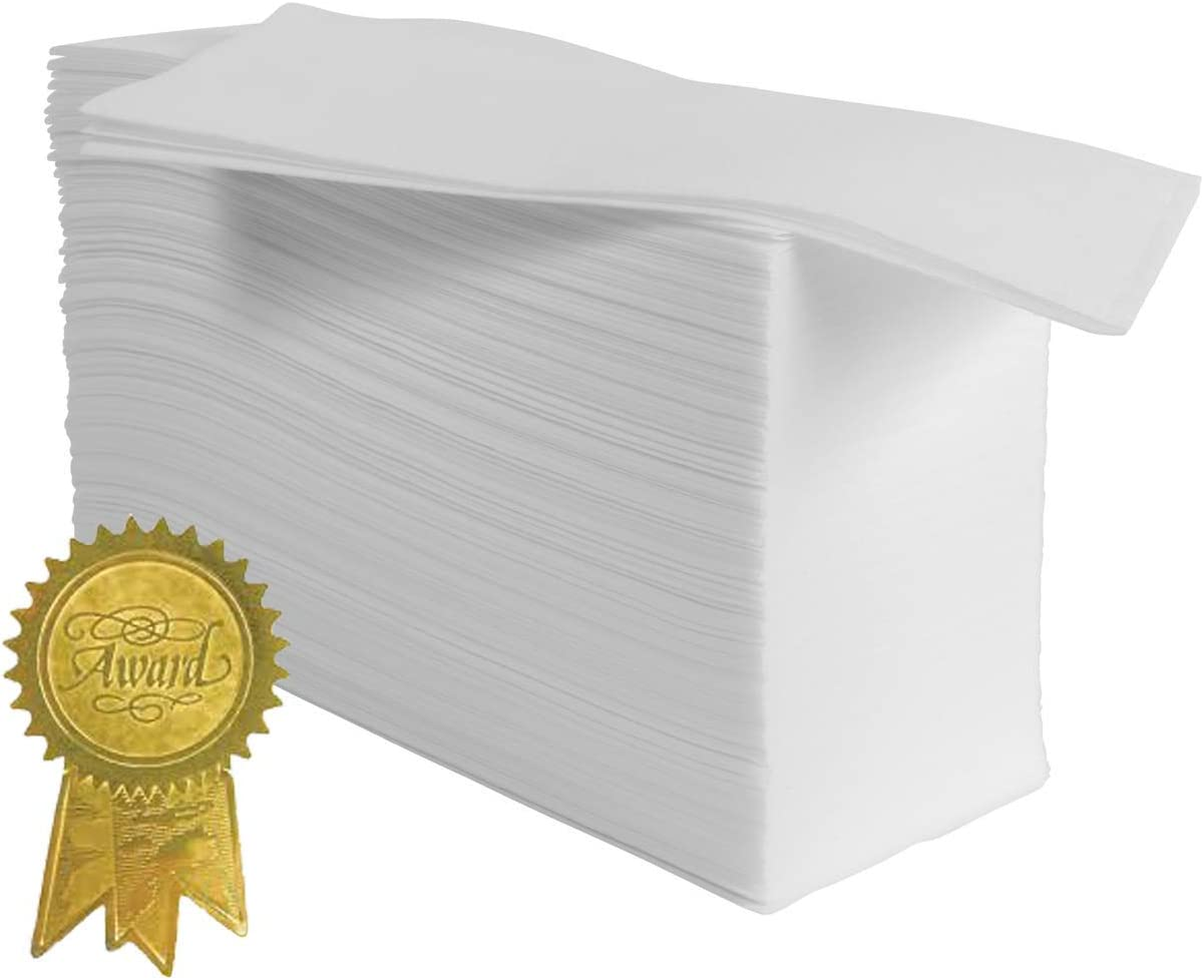 Magnifiso Guest Towels - 200 Pk - Made in The USA - Super Soft & Absorbent - for Kitchen, Bathroom, Office, Dinners & Special Events.