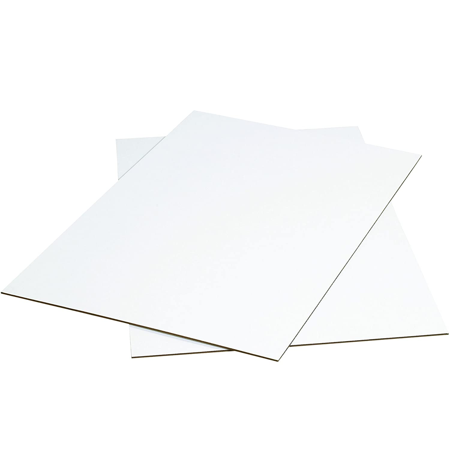 Pack of 5 48 x 48 BOX USA BSP4848W Corrugated Sheets White