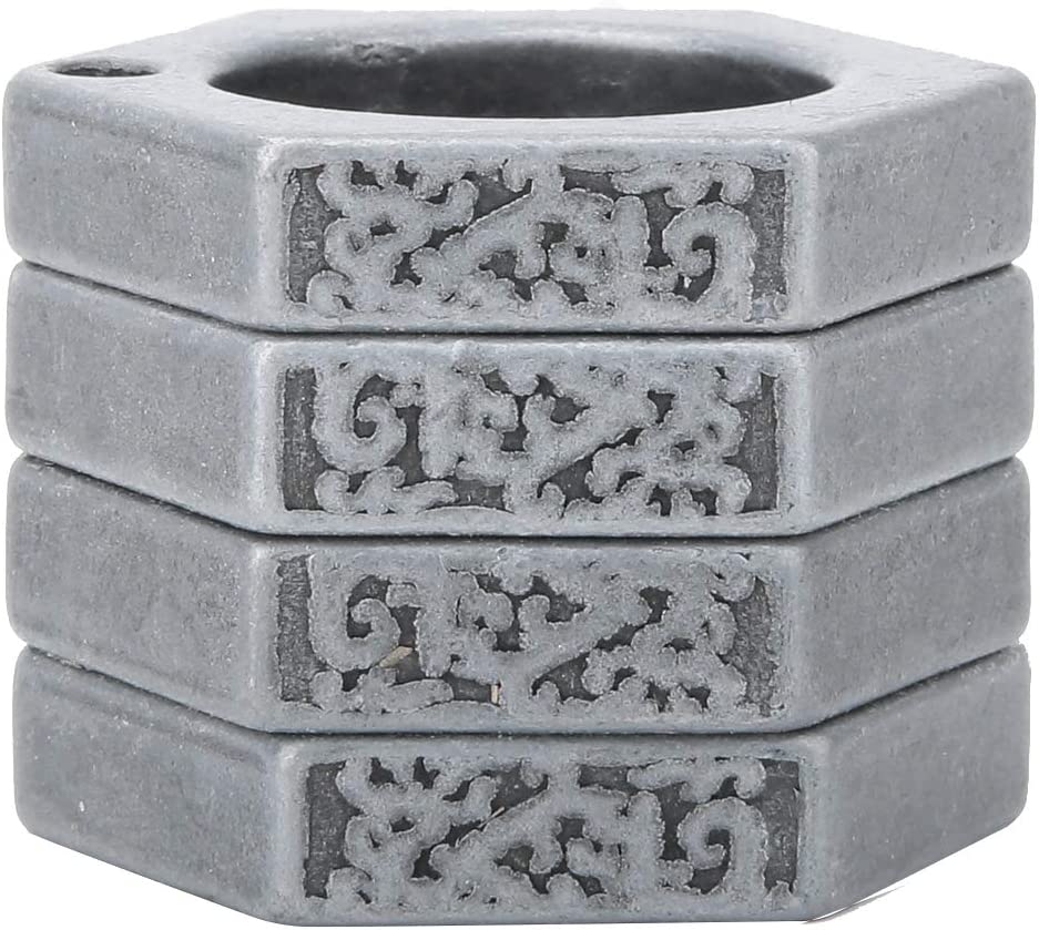 Square Antique Silver Rehomy Self Defence Protect Rings Finger Breaker Emergency Rescue Survival Tool