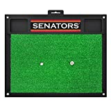 Fanmats 17046 Team Color 20'' x 17'' NHL - Ottawa Senators Golf Hitting Mat