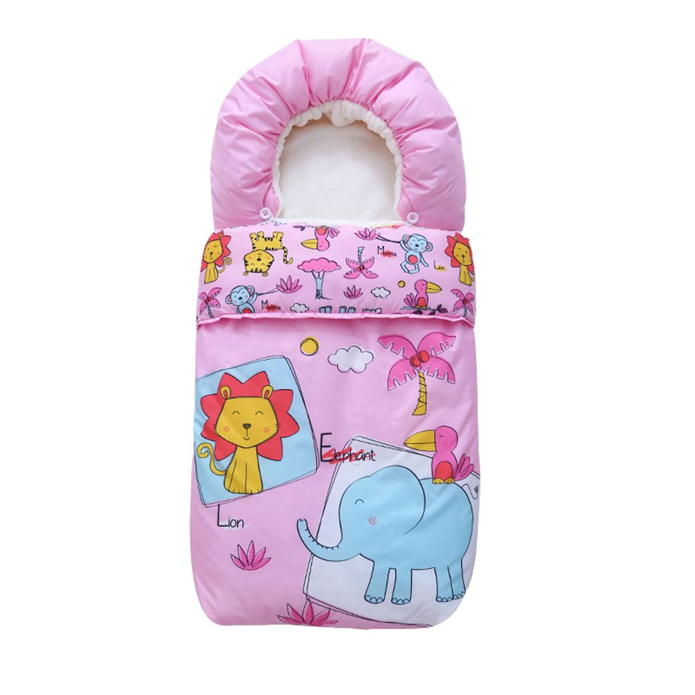 Fairy Baby Pushchair Liner and Lined Snuggle Footmuff Baby Bunting Bag,Pink,0-12 Months