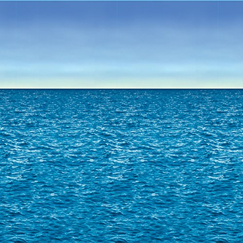 Ocean & Sky Backdrop Party Accessory (1 count) (1/Pkg)]()
