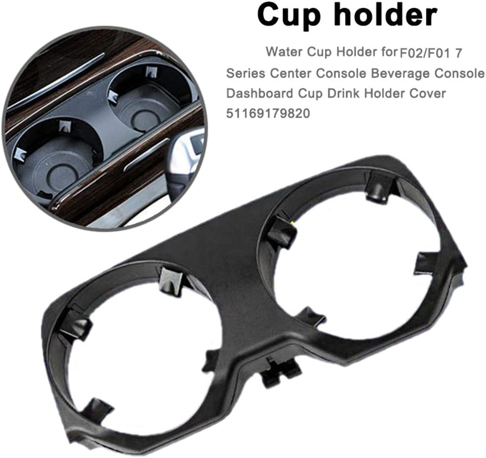 Semoic Car Center Console Cup Holder Cup Drink Holder Cover for 7 Series 730 740 750 760 F01 F02 F04 2008-2015