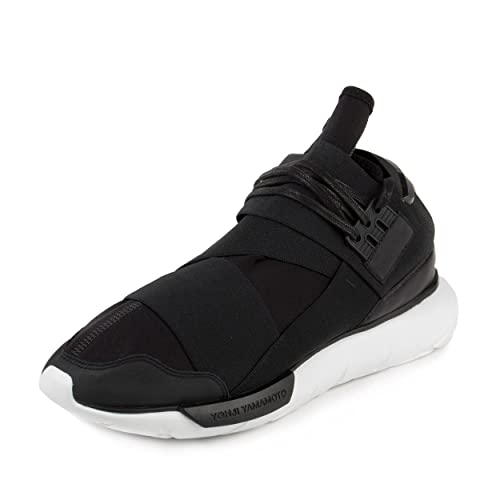 161796e73298c Y-3 Men s Qasa High Sneakers Black Black White 10 F(M) UK   11 D(M) US  Buy  Online at Low Prices in India - Amazon.in