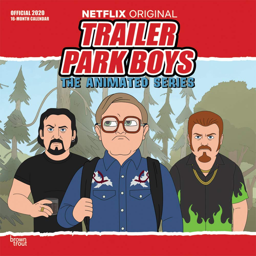 Trailer Park Boys Tour 2020 Trailer Park Boys 2020 12 x 12 Inch Monthly Square Wall Calendar