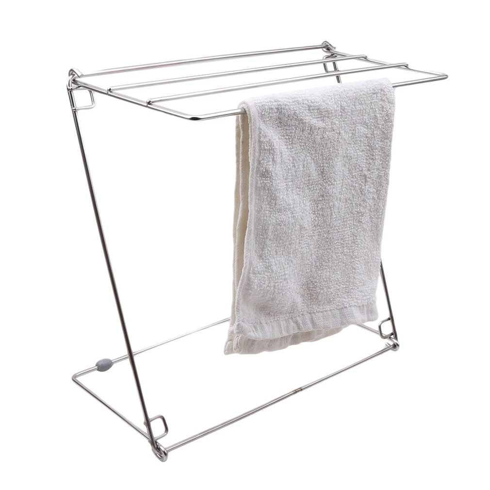 Dolland Stainless Steel Kitchen Towel Clothes Drying Rack ¨C Foldable for Easy Storage ¨C Rust-proof for Indoor and Outdoor Use