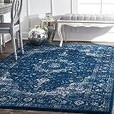 nuLOOM Vintage Persian Verona Area Rug, 8' x 10', Dark Blue