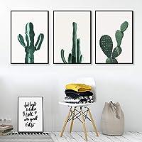 XPY-WallPainting Quadri Dipinti ad Olio Opere su Tela Wall Art Pronti da Appendere per d'illustrazione per L'Ufficio Domestico Decorazione Moderna Cactus, 30x40x3