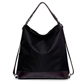 Amazon.com: CY Women's Nylon Multifunctional Totes Shoulder Bag ...