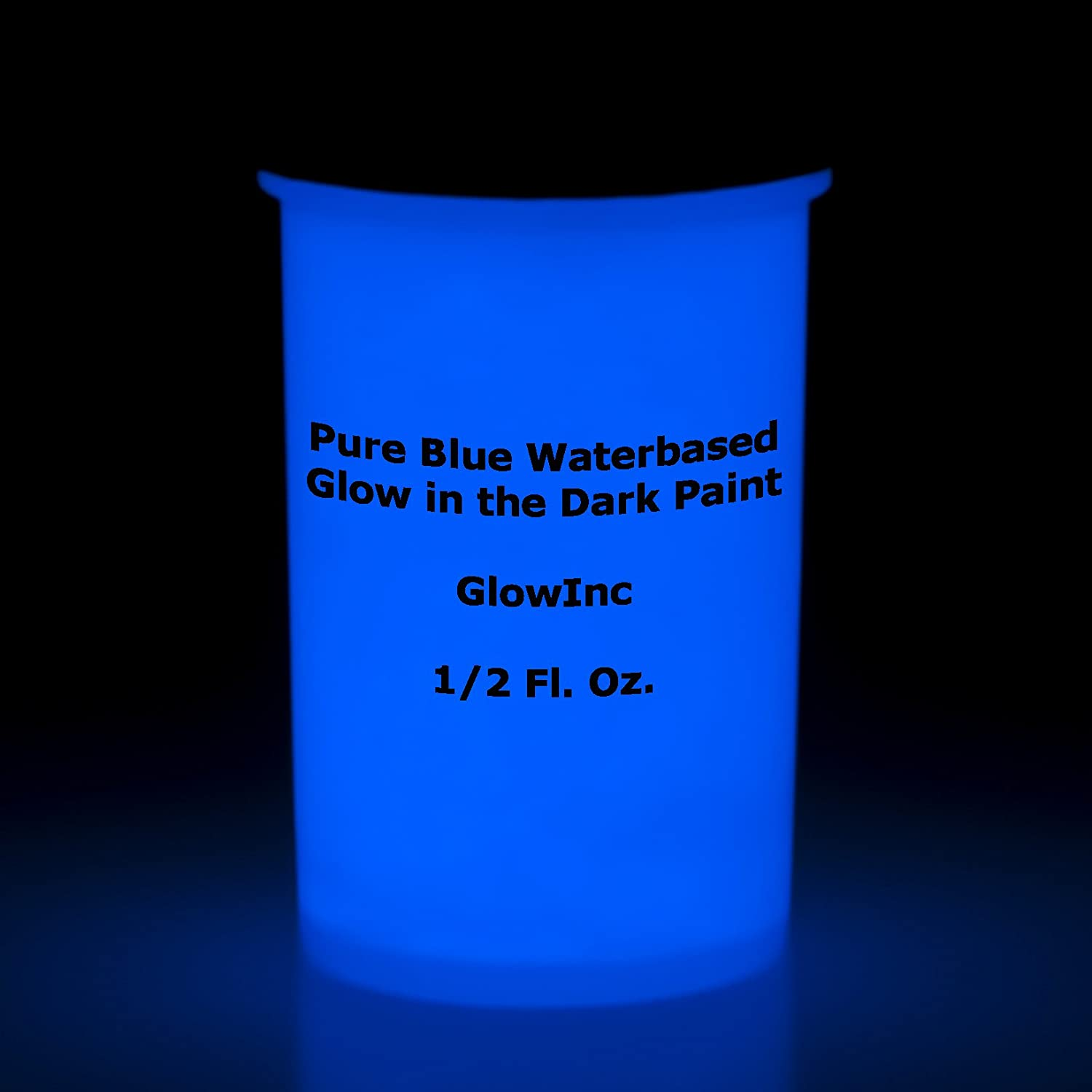Pure Blue Glow in the dark paint 1/2 Fluid Oz Glow Inc. aapbho