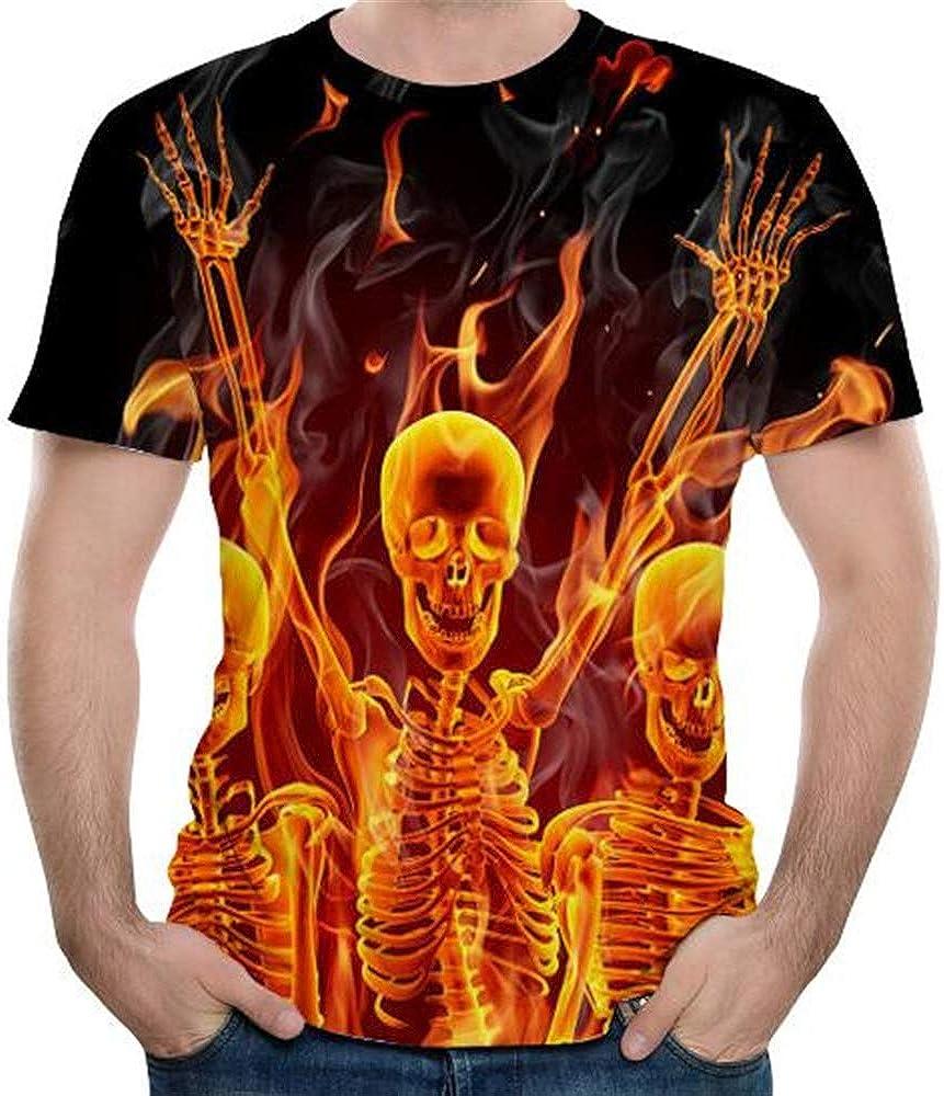 Camiseta de Manga Corta para Hombre Cuello Redondo ...