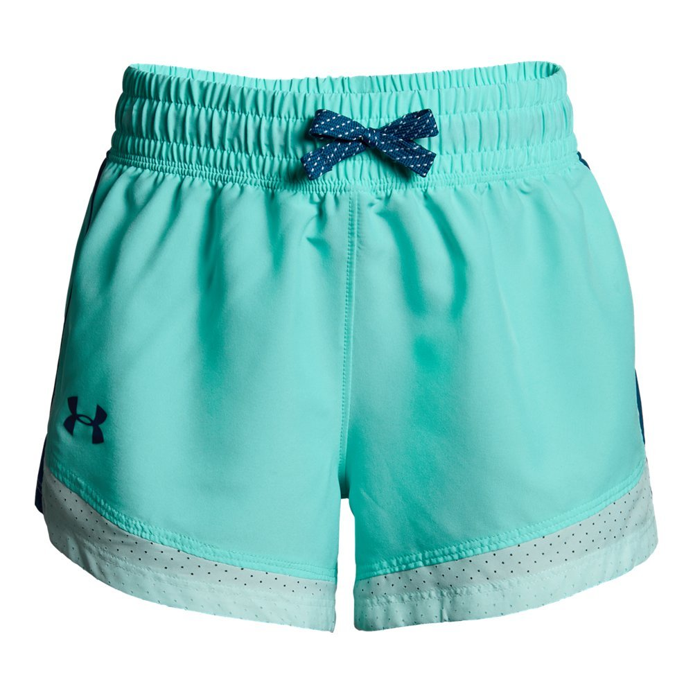 Under Armour Girls' Sprint Shorts, Tropical Tide (425)/Moroccan Blue, Youth X-Small