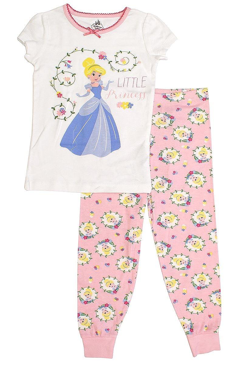 Girls Baby Disney Little Princess Cinderella Flower Garden Pyjamas Sizes from 9 to 36 Months